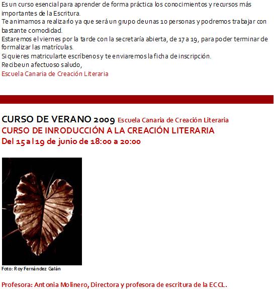Curso de Introducción a la Creación Literaria