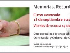 Curso Avanzado de Memorias. Recordar y Escribir