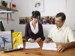 Acuerdo entre la Escuela Literaria y la Asociación de la Prensa de Santa Cruz