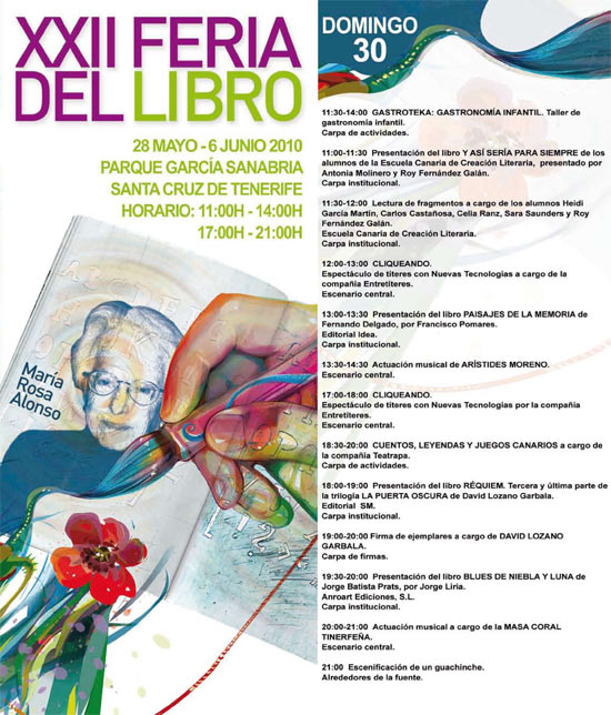 Programa de la Feria del Libro de Santa Cruz