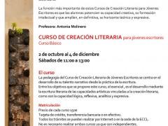 Cursos de Creación Literaria para jóvenes escritores