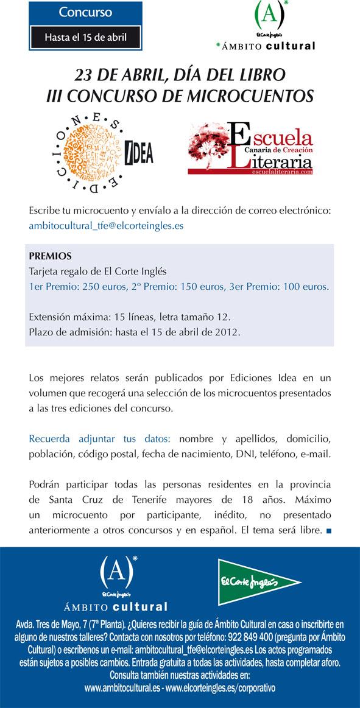 III Concurso de Microcuentos en El Corte Inglés