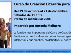Creación Literaria para Jóvenes. Comenzamos en octubre.