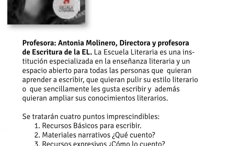 Mini taller de Creación Literaria en El Ámbito Cultural de El Corte Inglés