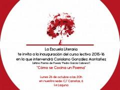 Inauguración del nuevo curso literario 2015-16
