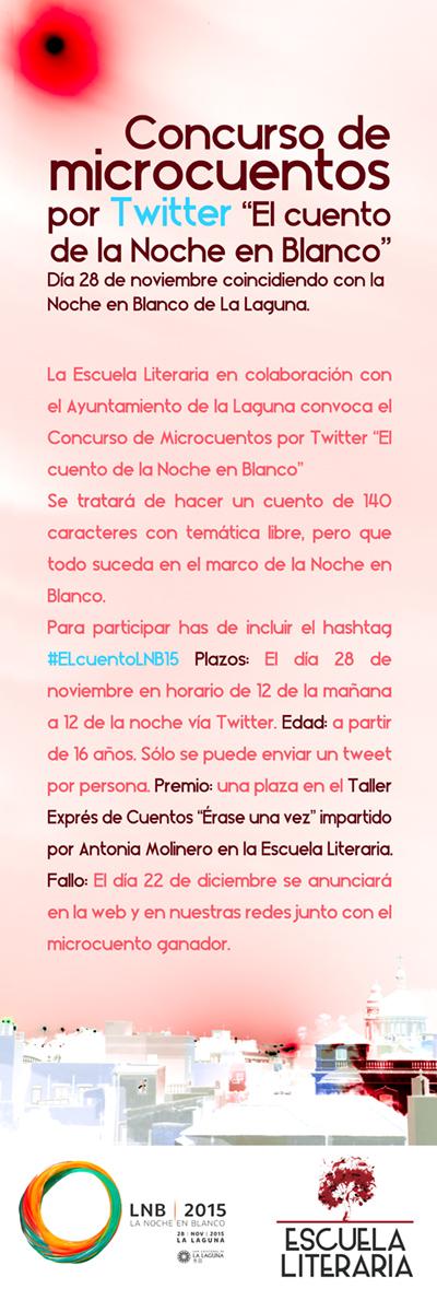 """Concurso de microcuentos por Twitter """"El cuento de la Noche en Blanco"""""""