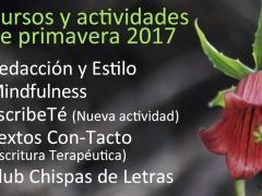 CURSOS Y ACTIVIDADES DE PRIMAVERA 2017