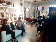 La Escuela Literaria en un reportaje en el informativo Buenos Días Canarias de RTVC sobre literatura canaria.
