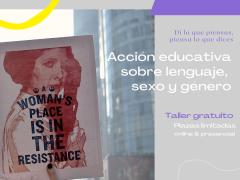 Taller gratuito de lenguaje, sexo y género